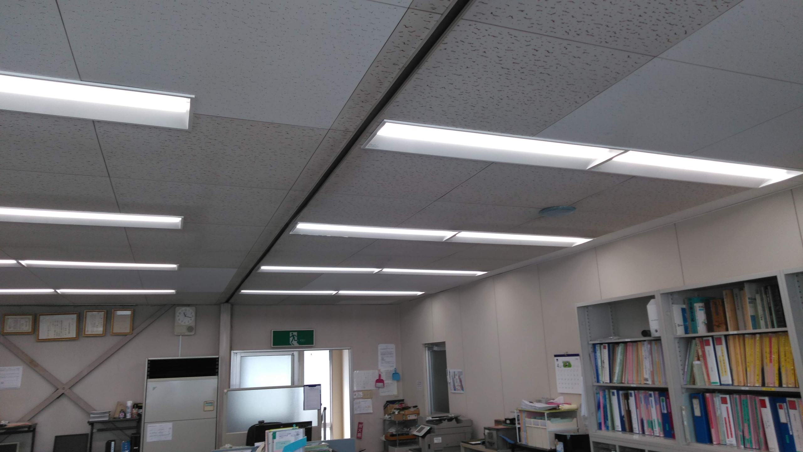 事務所照明LED化工事